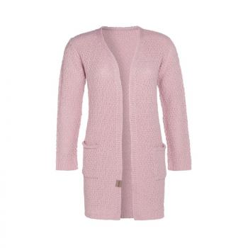 KNIT FACTORY Luna Strickjacke kurz rosa